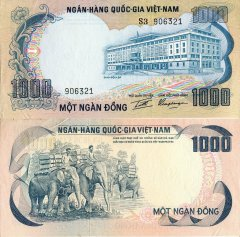 1,000 Dong Vietnam/South's Banknote