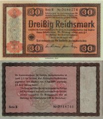 Germany 30 Reichsmark Banknote, 1934, P-209