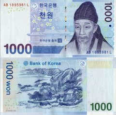 Korea/South 1,000 Won Banknote, 2007, P-54a