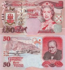 50 Pounds Gibraltar's Banknote