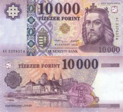10,000 Forint Hungary's Banknote