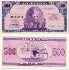 Fantasy Issues 500 Fantasy Banknote, 1988, P-ACC-007