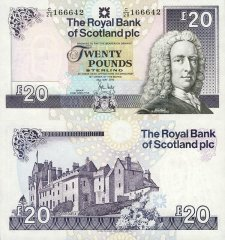 Scotland 20 Pounds Sterling Banknote, 2012, P-354f