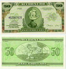 Fantasy Issues 50 Fantasy Banknote, 1988, P-ACC-005