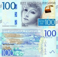 Sweden 100 Kronor Banknote, 2014, P-71a