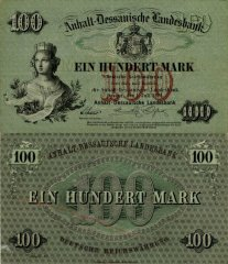 German States 100 Mark Banknote, 1874, P-S140