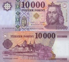 Hungary 10,000 Forint Banknote, 2014, P-206a