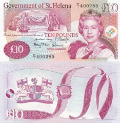St. Helena 10 Pounds Banknote, 2012, P-12b