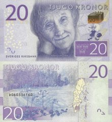 Sweden 20 Kronor Banknote, 2016, P-69a.2