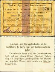 Germany/Notgeld 5 Mark Banknote, 1914, P-Die:042.2e