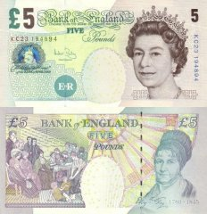 Great Britain/England 5 Pounds Banknote, 2004, P-391c