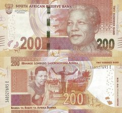South Africa 200 Rand Banknote, 2018, P-147a