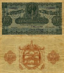 10 Shillings Leeward Islands's Banknote