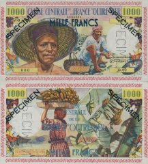 1,000 Francs Guadeloupe's Banknote