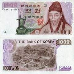 Korea/South 1,000 Won Banknote, 1983, P-47