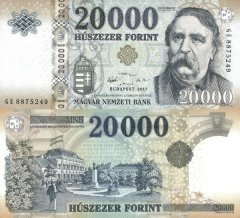 Hungary 20,000 Forint Banknote, 2017, P-207c