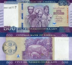 Liberia 500 Dollars Banknote, 2016, P-36a