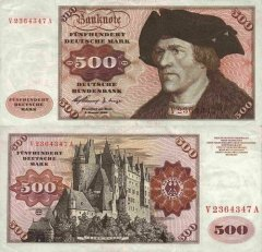 Germany/Federal Republic 500 Deutsche Mark Banknote, 1960, P-23a