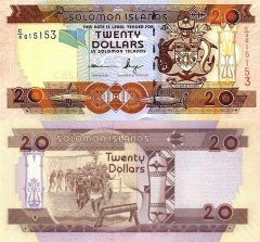 Solomon Islands 20 Dollars Banknote, 2011, P-28a.2