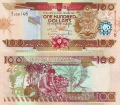 Solomon Islands 100 Dollars Banknote, 2009, P-30a.2