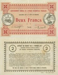 2 Francs Ivory Coast's Banknote