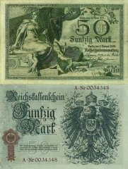 Germany 50 Mark Banknote, 1899, P-7