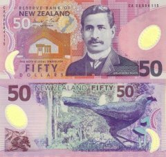 New Zealand 50 Dollars Banknote, 1999, P-188a