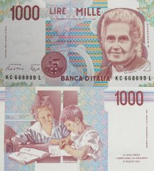1,000 Lire Italy's Banknote