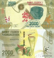 Madagascar 2,000 Ariary Banknote, 2017, P-101a