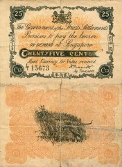 25 Cents Straits Settlements's Banknote