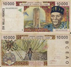 West African States 10,000 Francs Banknote, 1999, P-914Sd