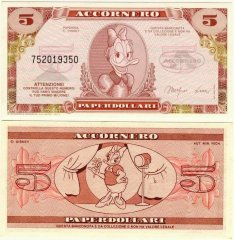 Fantasy Issues 5 Fantasy Banknote, 1988, P-ACC-002