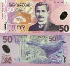 New Zealand 50 Dollars Banknote, 2012, P-188b.4