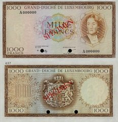 1,000 Francs Luxembourg's Banknote