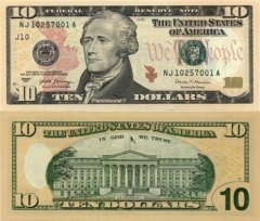 10 Dollars United States's Banknote