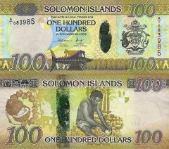 Solomon Islands 100 Dollars Banknote, 2015, P-36