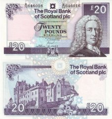 Scotland 20 Pounds Sterling Banknote, 2007, P-354d.3