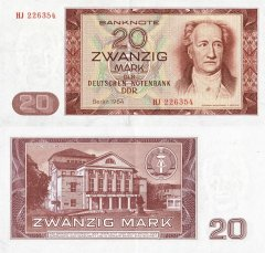 20 Mark der DDR Germany/Democratic Republic's Banknote