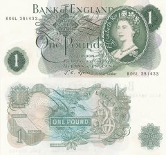 Great Britain/England 1 Pound Banknote, 1966, P-374f