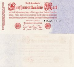 Germany 500,000 Mark Banknote, 1923, P-92.1