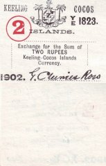 Cocos (Keeling) Islands 2 Rupees Banknote, 1902, P-S127