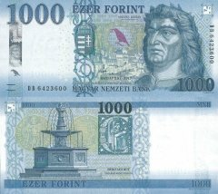 Hungary 1,000 Forint Banknote, 2017, P-203a