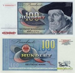Germany/Federal Republic 100 Deutsche Mark Banknote, 1960, P-29 E