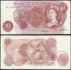 Great Britain/England 10 Shillings Banknote, 1962, P-373b
