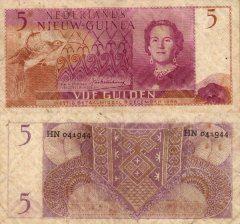 5 Gulden Netherlands New Guinea's Banknote