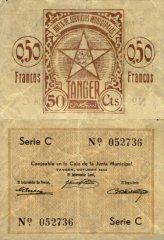 0.5 Francos Tangier's Banknote