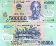 Vietnam 500,000 Dong Banknote, 2011, P-124h