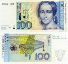 Germany/Federal Republic 100 Deutsche Mark Banknote, 1996, P-46x.1