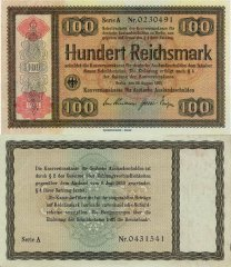Germany 100 Reichsmark Banknote, 1934, P-212