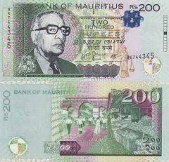 Mauritius 200 Rupees Banknote, 2010, P-61a